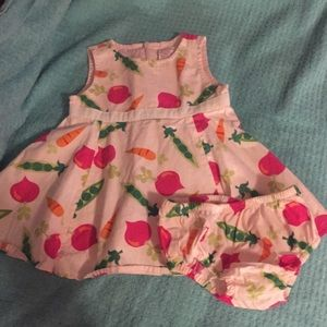 Gymboree Dress Baby Girl 3-6 months Vegetables